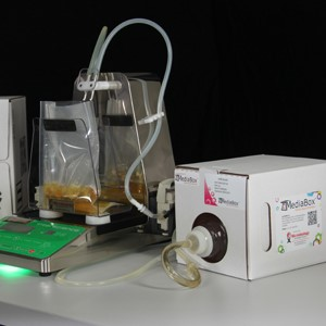 MediaBox with gravimetric diluter